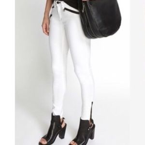 NEW Rag&Bone white jeans with exposed zipper